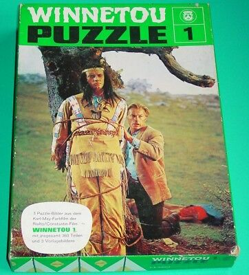 KARL MAY - WINNETOU - PUZZLE 1 ( 3 MOTIVE ) aus WINNETOU I. - MIT VORLAGEN (3)