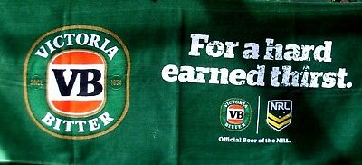 (NU) VB Victoria Bitter NRL Bar Towel Mat Man Cave Collectable Pool Room Display
