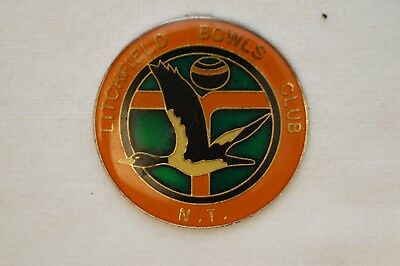 Collectable - Litchfield Bowls Club - NT - Members Badge.