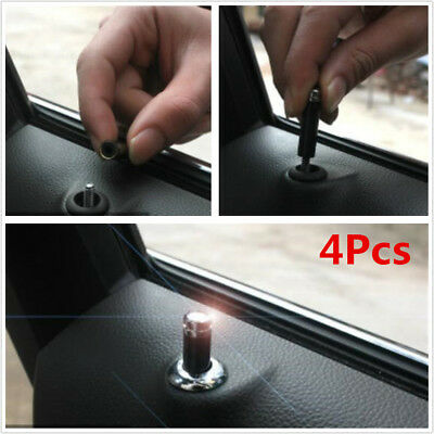 4pcs Universal Carbon Fibre Interior Door Lock Knob Pins For Car Truck SUV Auto