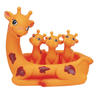 Bath Toys DD Distributing Giraffe Floatie Family Rubber Ducky Kids 3 Year Old Up