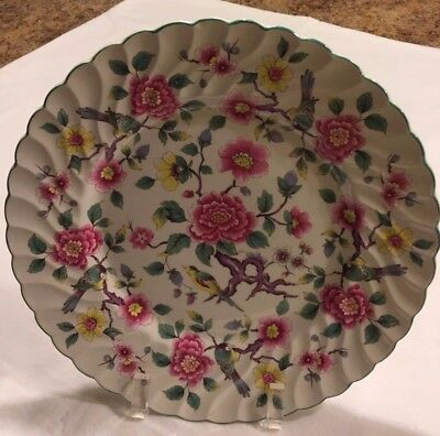 Old Foley Staffordshire England James Kent Chinese Rose 4 Dinner Plates