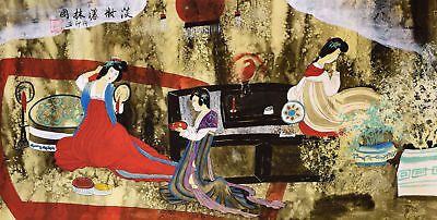 Antique Beauty-HANDPAINTED ORIGINAL ASIAN FINE ART CHINESE WATERCOLOR PAINTING