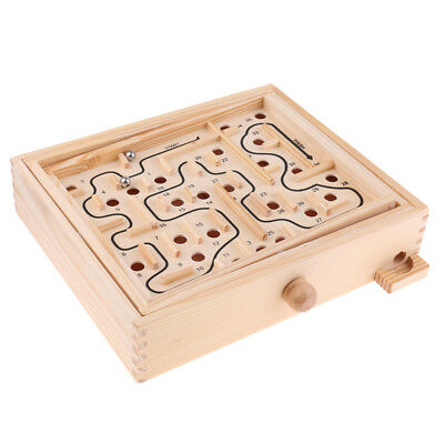 Wooden Balance Beads Game Toy Party Entertainment Labyrinth Maze Board Game
