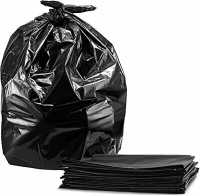 Contractor Trash Bags, 60 Gallon, 6 Mil Thick, 38 x 60, Black, Case Of 25,