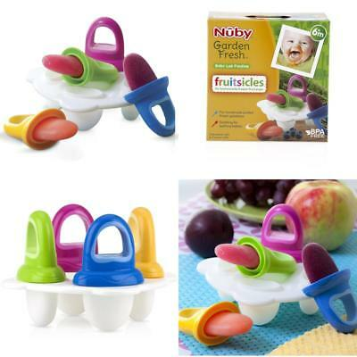Frozen Purees Mould Set Nuby Baby Infant Popsicle Maker Soother Pacifier NEW