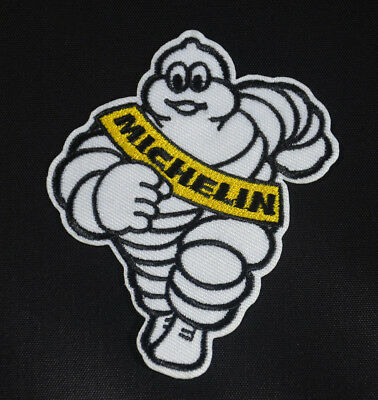 Michelin Man Tyre Tire Bibendum Sew Iron On  Patch Badge Embroidery Applique