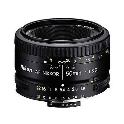 Nikon AF NIKKOR 50mm f/1.8D Lens - Free UK Delivery