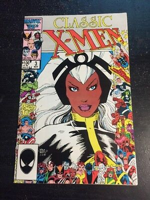 Classic X-men#3 Incredible Condition 9.4(1986) Art Adams Art, Anniversary Cover!