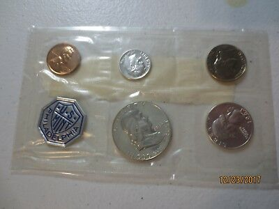 1963 silver proof set in original sealed pack nice clean coins