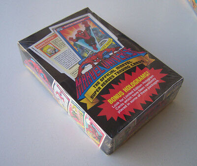 Boite Trading cards Marvel Universe série 1 1990 Impel