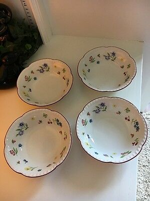 "4~Johnson Brothers SUMMER CHINTZ 6.25"" Round Cereal Salad Bowls England"