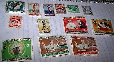 Paraguay Postage Stamp 1965 Mnh Set Of 5 & 2 1960 Hinged Sets Lot 26