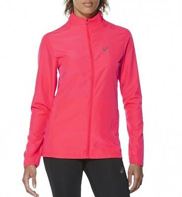 Ladies Women's New ASICS Track Tracksuit Top Athletic Running Jacket - Pink