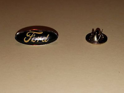 "Ford Domed Oval Lapel Pin Hat Pin 3/4"" by 5/8"""