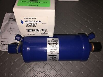 """ASK307SVVHH Emerson 7/8"""" ODF 30 Cubic In Solid Core Suction Line Filter-Drier"""