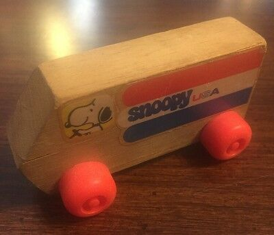 "Nice Vintage 1958 ""Snoopy"" USA Small Wooden Vehicle made by Aviva Toy Co. GVC"