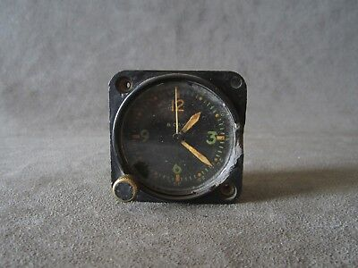 Vintage Waltham Aircraft Type A-11 8 Day Clock, For Parts