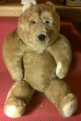 "19"" sitting vintage Animal Fair HUNCHBACK TEDDY BEAR BROWN PLUSH STUFFED TOY"