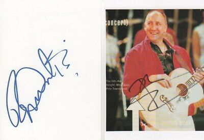 "The Who ""Daltrey & Townshend"" Autogramme signed (2x) 10x15 cm Karteikarten"