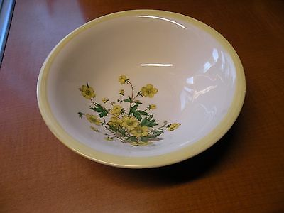 "Knowles vintage "" Buttercup"" Yellow Trim Serving Bowl 8 5/8"""