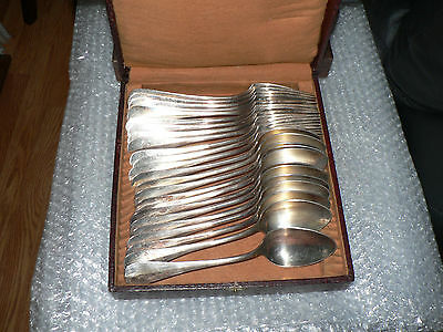 set of 12 forks and 12 spoons silverplated 19th century origin France