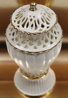 Lenox Illuminations Florentine and Pearl Canister Candle Jar Collectible MINT