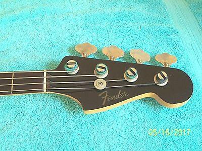 1965 Fender Jazz Bass Guitar Black w/ matching headstock 100% original VGC Rare