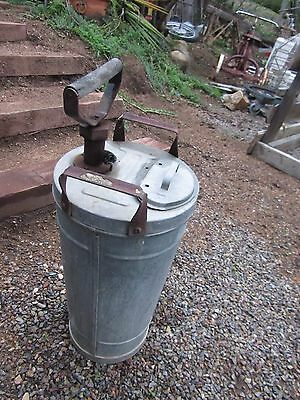 Antique Galvanized Steel Metal Garden Sprayer Vintage Old Yard Art Barn Tool