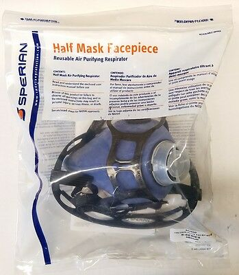 Sperian 302500 Half Mask Facepiece Valuair plus Respirator S -series Medium