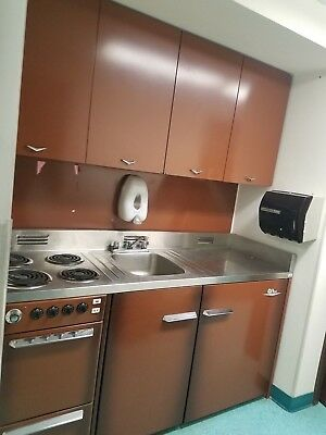 Retro kitchen cabinets KING metal kitchen stove and refrigerator combo