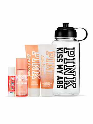 VICTORIA'S SECRET Pink NEW! Sun Kissed Water Bottle Gym Kit NWT