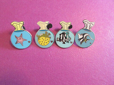 Disney trading pin lot of 4 finding nemo bags hidden mickey bloat gil deb pearl