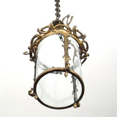 Antique French Lantern Chandelier Lamp, Rococo Louis XV style