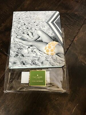 "Kate Spade New York ""Wish I was Here"" Concealed Spiral Notebooks JOURNAL New"