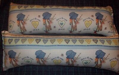 SET of 2 Handmade HOLLY HOBBIE pillows 19 in X 6 1/2 in. each
