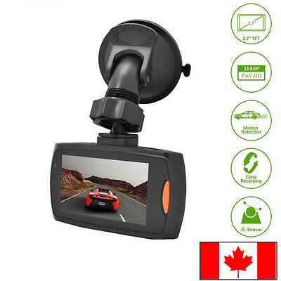 "1080P 140 degree 2.7"" LCD Car Dash Camera Video Cam Recorder with Night Vision"