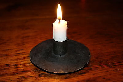 Primitive  American Revolutionary War 18th C. Style 1775 - 1783 Tin Candleholder