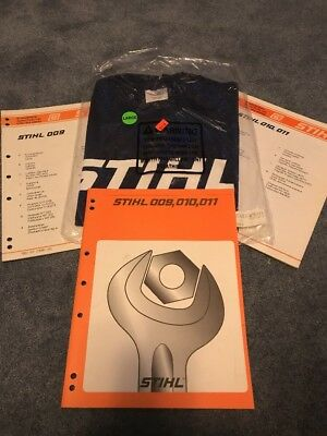 Chain saw repair manual stihl poulan redmax husqvarna mcculloch deer stihl chain saw manual 009 010 011 service repair book chainsaw plus new t shirt fandeluxe Images