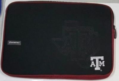 "Texas A&M Aggies Imprinted Laptop Sleeve Bag Fits 13"" - 15"" 2 Pocket Ghosting"