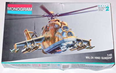 Monogram 1/48  MiL-24 Hind Gunship Helicopter Model Kit