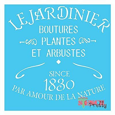 ❤ French Jardinier Stencil - Vintage DIY Sign home decor Furniture Chic Wall Art