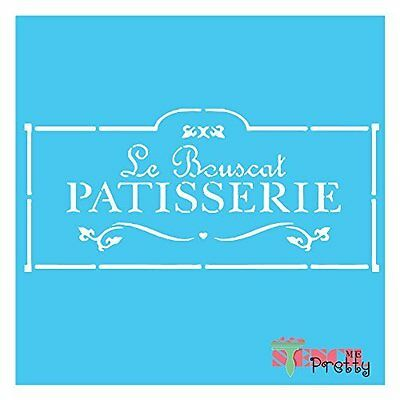 French Patisserie stencil Vintage Wall Art Primitive Sign Shabby Chic Furniture