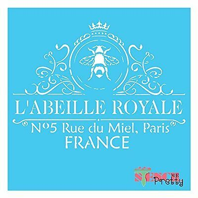 French ROYALE FRENCH Stencil - DIY Vintage Furniture Signage Arts and Crafts |