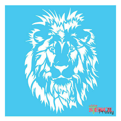 LION FACE STENCIL - Rustic Primitive Sign template wall art shabby furniture DIY