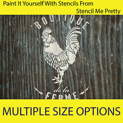 French Rooster STENCIL TEMPLATE Vintage Furniture DIY Wall art Shabby Chic Decor