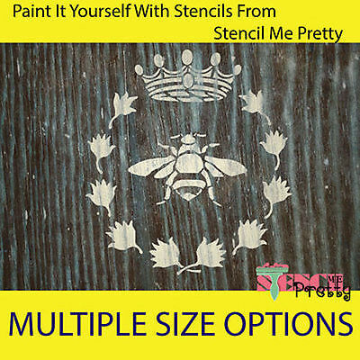 Queen Bee French Stencil - Shabby DIY Vintage Furniture Wall Art Crafts Template