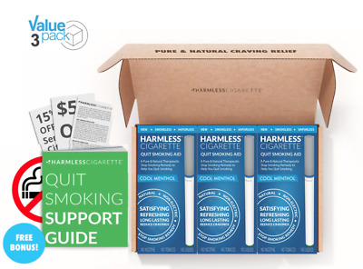 4 Week Quit Kit + Free Quit Smoking Support Guide / Harmless Cigarette (3 Pack)