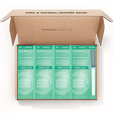 Harmless Cigarette Quit Smoking Aid Fresh Mint Flavored 4 Pack