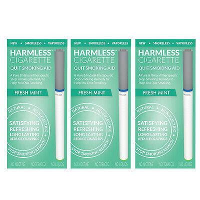 Harmless Cigarette Quit Smoking Aid Fresh Mint Flavored 3 Pack